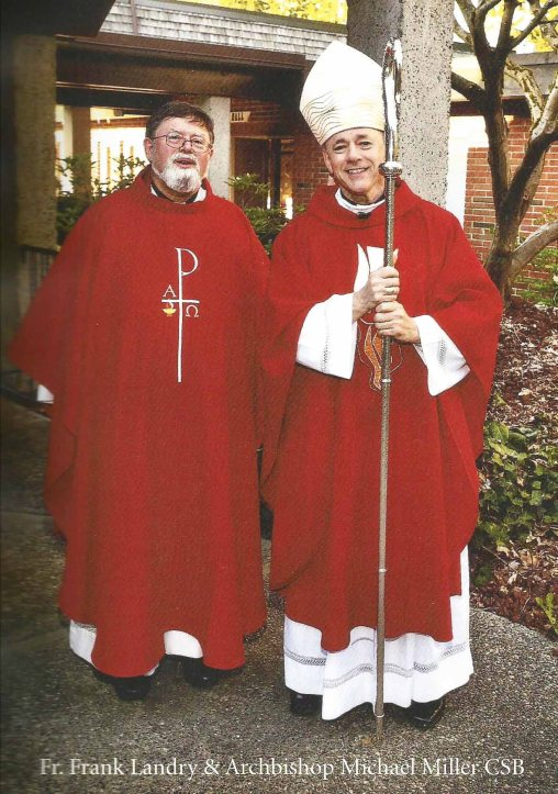 Rev. Fr. Frank Landry and Archbishop Michael Miller CSB